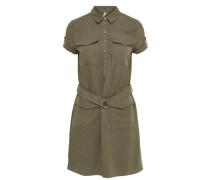 Kleid mit kurzen Ärmeln Cargo- grün