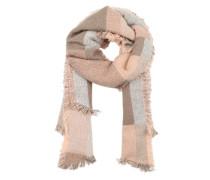 Karierter Schal mit Fransen pink