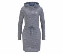 Shirtkleid blau / graumeliert