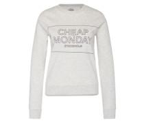 Sweatshirt mit Logo-Box-Print grau
