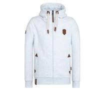 Zipped Jacket hellblau