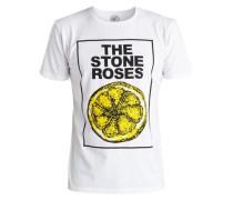 T-Shirt »Stone Roses Lemon« gelb / weiß