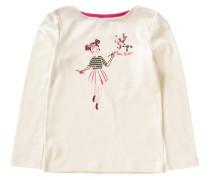 Langarmshirt für Mädchen rosa / weiß