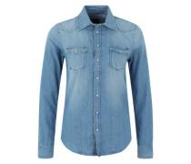 Jeans-Bluse 'Rosie' blau