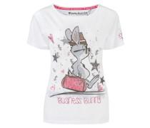 Shirt 'Business Bunny' weiß