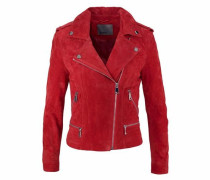 Jacke 'Suede' rot