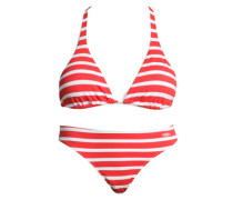 Triangel-Bikini rot / weiß