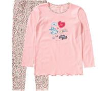 Schlafanzug für Mädchen rosa