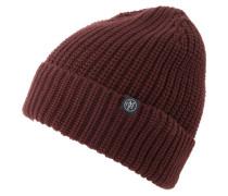 Mütze 'Hat knit half cardigan fold up' braun