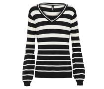 Pullover 'Elfi' schwarz / weiß