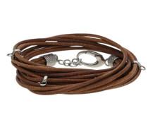 Charm-Armband mit coolem Lederband Esbr11485A420
