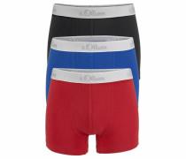 s.Oliver RED Label Bodywear Boxer (3 Stück) royalblau / rot / schwarz
