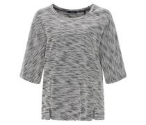 Boxy-Shirt 'Gauri' grau / weiß