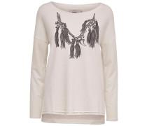 Detailliertes Sweatshirt weiß