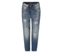 Jeans 5-Pockets Destroyed-Look blau