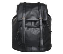 Rucksack in Leder-Optik schwarz