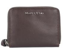 'Zip Wallet M' Geldbörse Leder 12 cm mokka