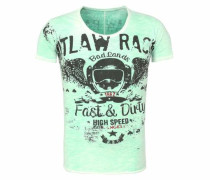 T-Shirt 'MT Outlaws round' mint