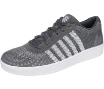 'Addison Pique' Sneakers dunkelgrau / weiß