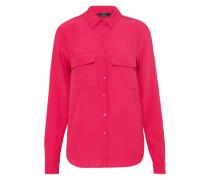 Bluse mit Fronttaschen pink