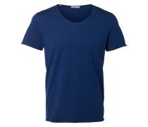 T-Shirt Rundausschnitt blau