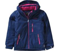 Winterjacke Aria Solid für Mädchen dunkelblau / neonpink