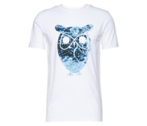 T-Shirt 'Big Owl' weiß