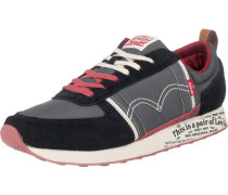Gilmore Sneakers basaltgrau / rosa / feuerrot / schwarz / weiß