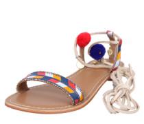 Sandale mit Fesselriemen blau