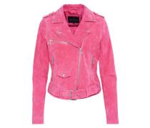 Lederjacke 'belted Velours' pink