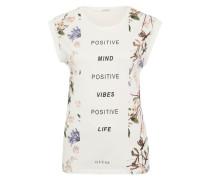 Printshirt 'Positive' weiß