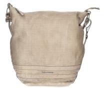 Cut it Vintage Mixpixel Handtasche Leder 37 cm beige