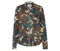 Camouflage-Jacke braun / grün