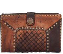 Borchie Con Fiore Geldbörse Leder 15 cm braun