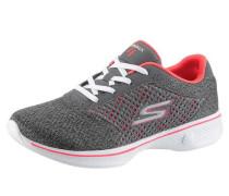 Sneaker grau / lachs / weiß
