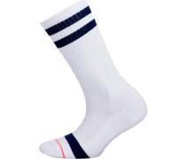 ein Paar Socken dunkelblau / weiß