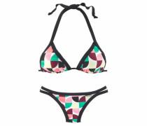 Triangel-Bikini hellgelb / grün / mischfarben / altrosa / bordeaux / schwarz