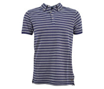 Poloshirt marine / grau