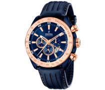 Chronograph mit Dualzeit »F16897/1« blau
