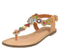 Sandalette mit Ziersteinbesatz beige / mischfarben