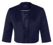 Kurzer Blazer in Glanz-Optik blau