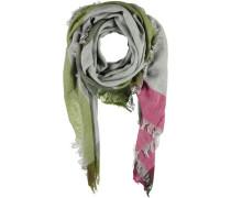 Tuch 'Trinita' grau / grün / pink