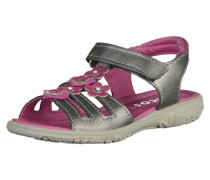 Sandalen grau / lila