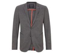 Jogg Suit: Meliertes Anzugsakko dunkelgrau