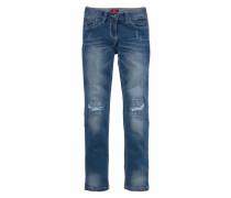 Jeans in schmaler Form blau