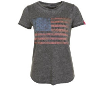 T-Shirt American Flag Black