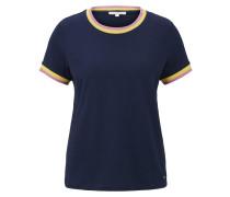 Shirt nachtblau / gelb / altrosa