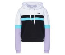 Sweatshirt 'ella' weiß / flieder / schwarz
