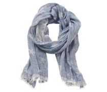 Schal mit Sternen-Muster taubenblau