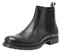 Klassische Lederstiefel schwarz